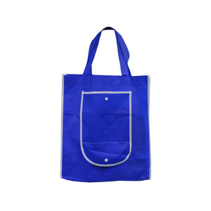 Bulk Buys Blue Shopping Tote With Pocket Pack Of 25