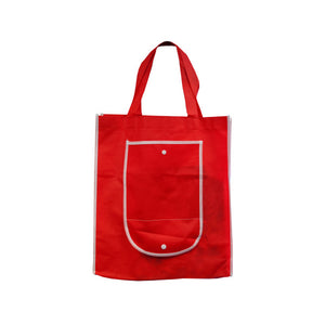 Bulk Buys Red Shopping Tote With Pocket Pack Of 25