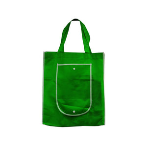 Bulk Buys Green Shopping Tote With Pocket Pack Of 25
