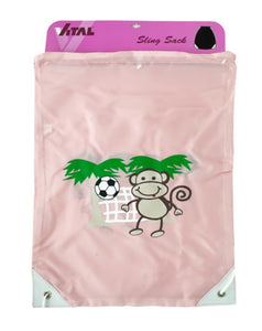 Soccer Monkey Drawstring Sling Backpack - Pack of 25