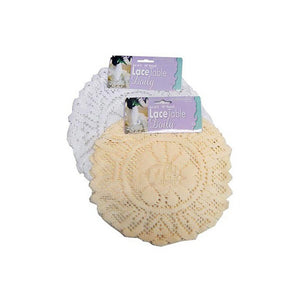 Bulk Buys Household Kitchen Tool Round Lace Table Doily Set - 24 Pack
