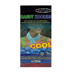Bulk Buys Hot Outdoor Activity Event Plastic Handy Body Neck Wrap Kooler Green Pack of 16