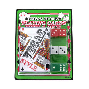 Vegas Playing Cards with 6 Dice Case Pack 24