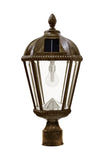"Gama Sonic GS-98B-F-WB Royal Bulb Lamp Outdoor Solar Light Fixture, 3"" Post-Fitter Mount, Weathered Bronze"