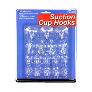Large Set Suction Cup Hooks - Pack of 24
