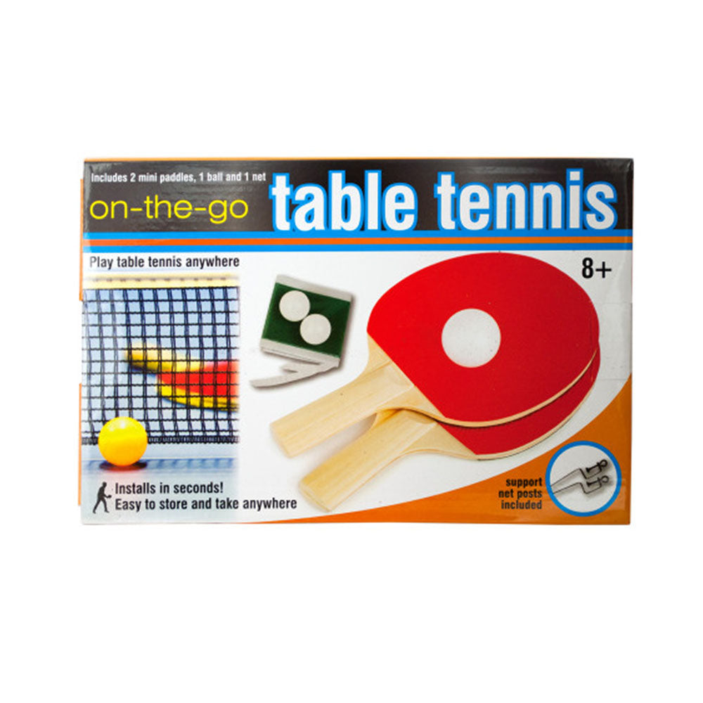 Portable Table Tennis Set  - 4 Pack
