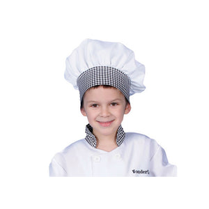 Dress Up America Halloween Party Costume Black Gingham Chef Hat