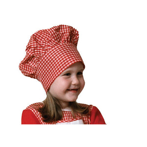Dress Up America Halloween Party Costume Red Gingham Chef Hat