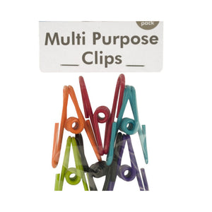 Bulk Buys Vinyl Coated Multi-Purpose Clips - Pack of 24