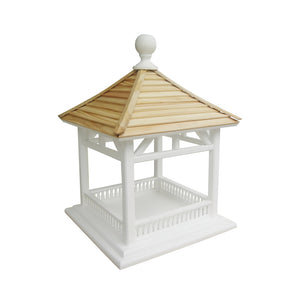 Home Bazaar Dream Birdhouse Feeder, Pine Shingle Roof