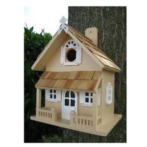 Home Bazaar Hand-made Victorian Yellow Bird House - Bird Friendly - Home Decor