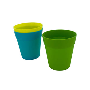 "5"" Colorful Plastic Flower Pot - Pack of 24"