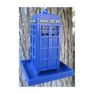 Home Bazaar HBD-1004S British Inspired Police Call Box Feeder, Royal Blue