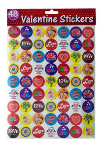 Valentine Stickers - 24 Pack