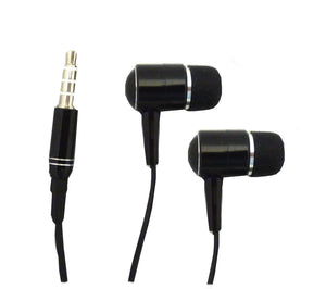 Iphone /IPod Replacement Stereo Headset  With Mic / Headphones - Black