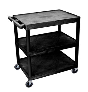 Luxor 3 - Shelf Utility Cart black