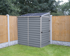 Palram SkyLight 4' x 6' Lean-To Storage Shed - Gray