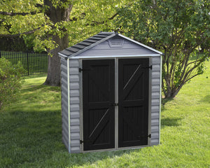 Palram SkyLight 6' x 3' Storage Shed - Gray