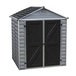 Palram SkyLight 6' x 5' Storage Shed - Gray