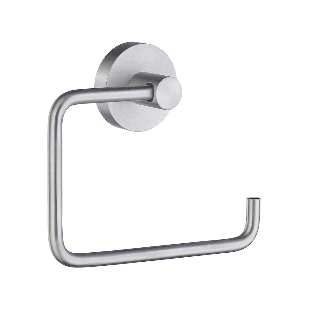 Smedbo SME, Brushed Chrome HS341 Toilet Roll Euro Holder Without Lid