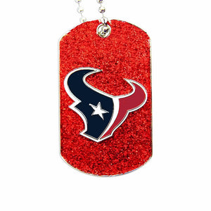 NFL Houston Texans Glitter Dog Tag