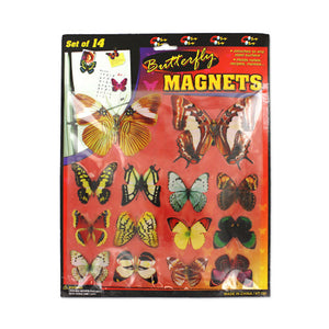 Set of 14 Butterfly Magnets - Pack of 24