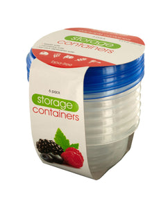 Bulk Buys Small Round Food Storage Container Set - 12 Pack