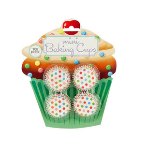 Mini Polka Dot Print Baking Cups-Package Quantity,24