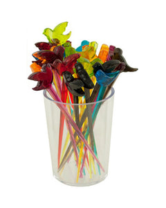 Colorful Bird Fruit Picks with Holder - Pack of 12
