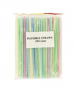 Flexible Drinking Straws Countertop Display - Pack of 24