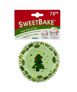SweetBake Holiday Paper Baking Cups - Pack of 24