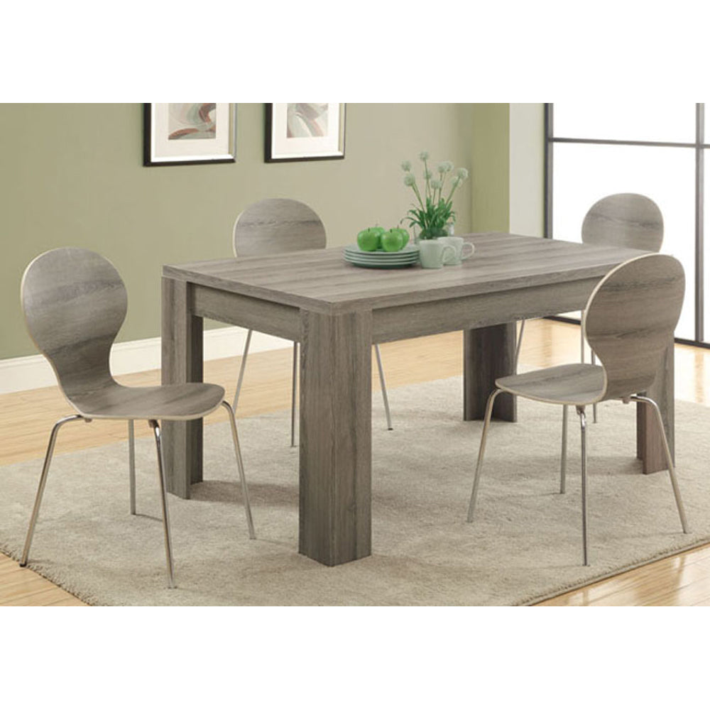 Monarch Specialties , Dining Table, Dark Taupe Reclaimed-Look ,60