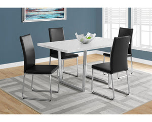 "Monarch Specialties Dining Table, 59""L x 35.5""D x 30.25""H, White"