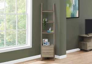 Monarch Specialties I BOOKCASE, One Size, DARK TAUPE