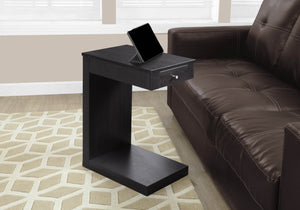 Monarch Accent Table with a Drawer, Cappuccino