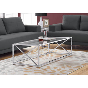 Monarch Specialties I COFFEE TABLE, CHROME
