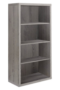 Monarch Specialties Bookcase - Sturdy Etagere with 3 Adjustable Book Shelves - 48 H (Dark Taupe)