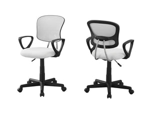 Office Chair White Mesh Juvenile - Multi-Position