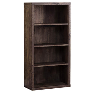 Monarch Specialties Bookcase - Sturdy Etagere with 3 Adjustable Book Shelves - 48 H (Brown)