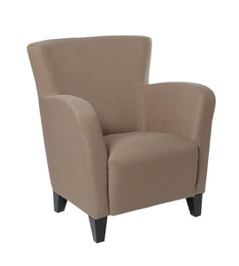 I 8066 Upholstered Club Chair Accent Chair, Linen Fabric, Brown,Black