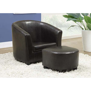Monarch Juvenile Chair - 2 PCS Set / Dark Brown Leather-Look