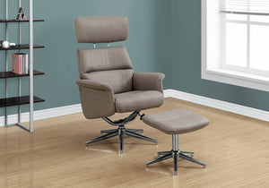 Monarch Specialties I Recliner, Taupe