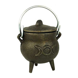 Azuregreen Triple Moon cast iron cauldron 3""