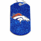 NFL Denver Broncos Glitter Dog Tag