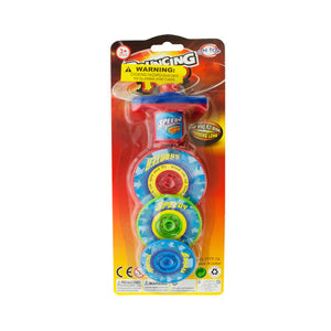 3-Layer Bouncing Top Spinner Toy - Pack of 12
