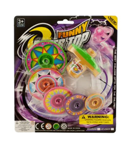 Super Spinning Top Toy with Extra Colorful Discs-Package Quantity,24