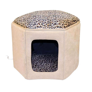 "Thermo-Kitty Sleephouse Tan / Leopard 17"" x 16\"" x 13\"""