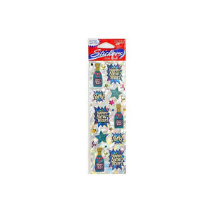 Kole imports Stickers Champagne Bottles 24 Pack