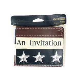 Kole imports Old Glory 8 Count Party Inviations/Envelopes 24 Pack