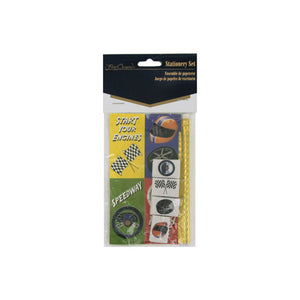 Speedway Stationery Set (Pencil, Erasers, Stickers) - Pack of 24